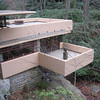 Terraces off living room and master bedroom at Fallingwater